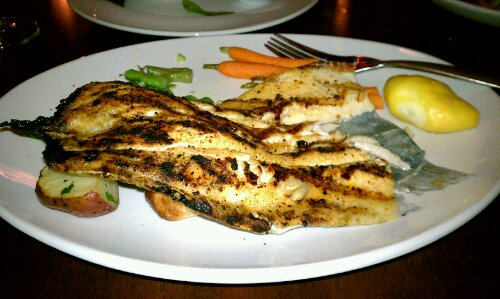 Grilled Boneless Rainbow Trout with parsley new potatoes seasons 52 gluten free jacksonville