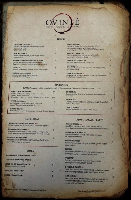 ovinte gluten free menu brunch town center