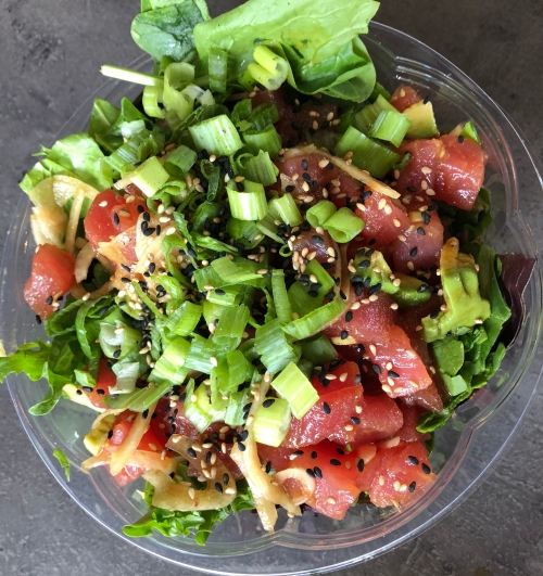 Gluten Free Jacksonville Florida Juice and Bowl tuna poke bowl